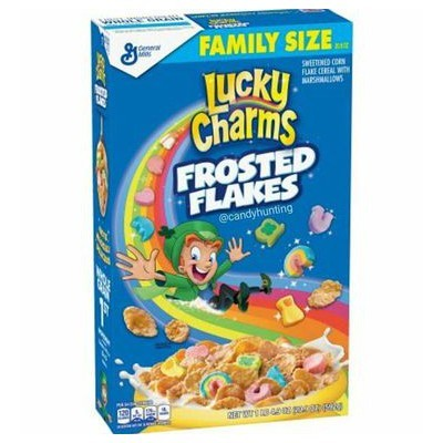 LUCKY CHARMS FROSTED FLAKES CEREALS
