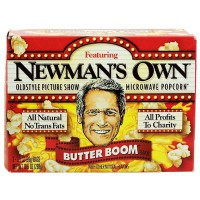 NEWMAN'S OWN MICROWAVE POPCORN BUTTER BOOM