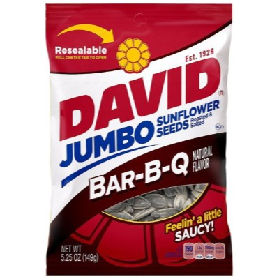 CLEARANCE - DAVID JUMBO SUNFLOWER SEEDS BBQ