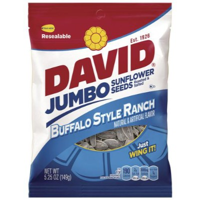 DAVID JUMBO SUNFLOWER SEEDS BUFFALO RANCH