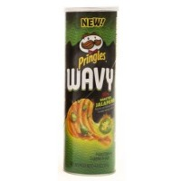 PRINGLES WAVY FIRE ROASTED JALAPENO CHIPS