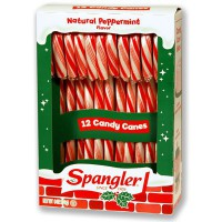 CANDY CANES PEPPERMINT RED WHITE 12-stick box