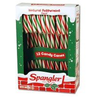 CANDY CANES PEPPERMINT RED GREEN WHITE 12-stick box