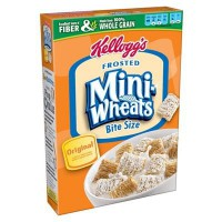 KELLOGG'S FROSTED MINI-WHEATS BITE SIZE CEREAL