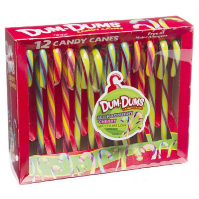 CANDY CANES DUM DUMS 12-stick box