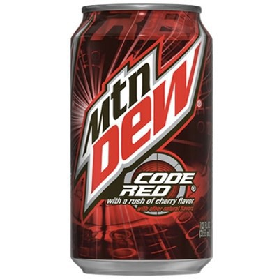 CLEARANCE - MOUNTAIN DEW CODE RED SODA